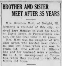 Adeline Green Mott and brother David Green - Newspapers.com