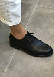 derby shoes black calf le vestiaire