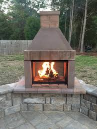 open outdoor fireplace kit that are