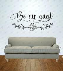 Be Our Guest Vinyl Wall Decal Guest Bedroom Decor Suite Wall Art Lettering Quote Decals Stickers Vinyl Art Home Decor Thecorner Mx