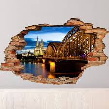Wall Decal Landscape View Barcelona Cheap Stickers World Discount Wall Stickers Madeco Stickers