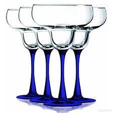cobalt blue margarita glasses with