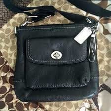 black pebbled leather cross bag