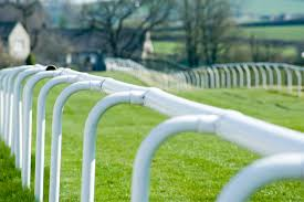 Curved White Rail On A Racecourse 8155 Stockarch Free Stock Photos