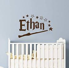Amazon Com Personalized Boy Name Wall Decal Boy Name Wall Decal Nursery Wizard Wall Decor Personalized Custom Name Vinyl Wall Art Decal Sticker Teen Boys Name Bedroom Decor Vs69 Handmade