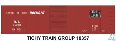Tichy Railroad Decal Set Rock Island 40 Steel Boxcar Boxcar Red Car Rockets Slogan 293 10357n