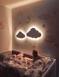 Ducha Nube Noche Madera De La Luz De La Lampara Ninos Habitacion Del Bebe Nursery Llevo La Lampara In 2020 Baby Wall Decor Baby Room Decor Kids Lamps