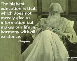the highest education is that which does not merely give us