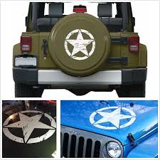 Car Styling 2018 New 50x50cm White Car Distressed Army Star Pattern Vinyl Decal Stickers For Jeep Car Stickers Vinyl Decals Stickers Decal Stickercar Styling Aliexpress