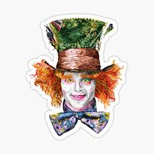 Mad Hatter Stickers Redbubble