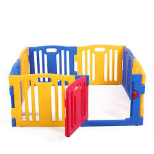 Nufazes Baby Playpen Kids 8 Panels Safety Panel Play Center Yard Home Indoor Fence Walmart Com Walmart Com
