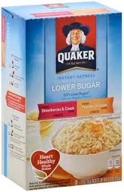 quaker instant lower sugar