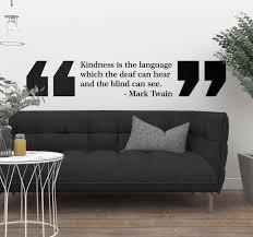 Mark Twain Kindness Living Room Wall Decor Tenstickers