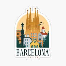 Barcelona Stickers Redbubble