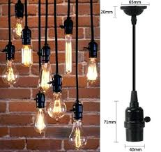 vintage edison bulb pendant light