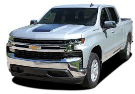 Silverado Trail Boss Hood Chevy Silverado Hood Decal Vinyl Graphic Stripe Kit Fits 2019 2020 Moproauto Professional Vinyl Graphics And Striping