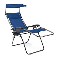 navy reclining lounge chair with