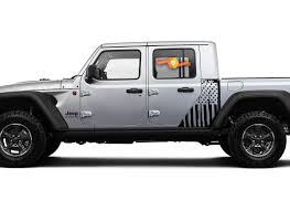 Jeep Gladiator Side Flag Usa Mountains Forest Decal Vinyl Sticker Factory Style Body Vinyl Graphic Stripes