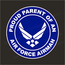 Proud Parent Of An Air Force Airman Military Usaf Bumper Sticker Window Decal