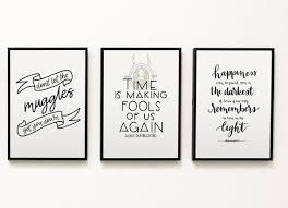 harry potter inspired quotes hand lettered print home