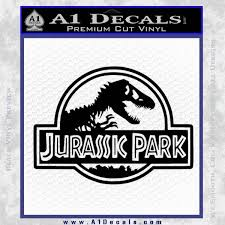 Jurassic Park Title Decal Sticker A1 Decals