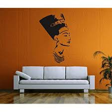 Ik58 Wall Decal Sticker Room Decor Wall Art Mural Profile Of The Egyptian Queen Nefertiti Living Room Bedroom Interior Walmart Com Walmart Com