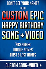 Epic Happy Birthday Song With Names