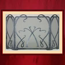 art nouveau multi panel steel screen