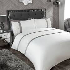 luxury silver bedding duvet covers