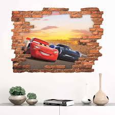 Disney Cartoon Movie 3d Cars Lightning Mcqueen Diy Wall Sticker For Kids Room Mural Art Home Decoration Pa14261 N Wall Stickers Aliexpress