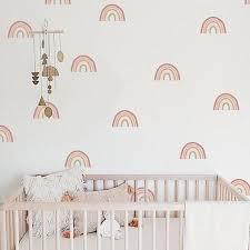 Navy Nursery Decor Boy Nursery Wall Decor Rainbow Nursery Cloud And Stars Moon And Stars Navy B In 2020 Rainbow Wall Decal Rainbow Wall Stickers Kids Room Decals