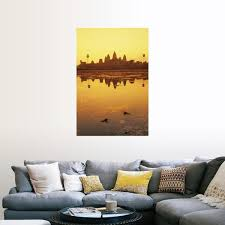 Shop Angkor Wat Temple At Sunrise Cambodia Poster Print Overstock 16283830