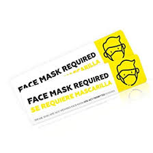 Face Mask Required Sign Decal Sticker For Rideshare Drivers Safety Face Mask Notice Sign For
