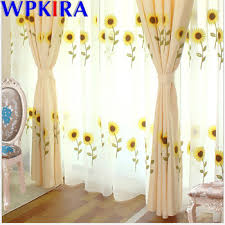 Cartoon Sunflower Window Curtain For Living Room Sheer Curtains Kids Bedroom Embroidery Window Treatment Home Decora X Ad366 30 Eirbhcroccius