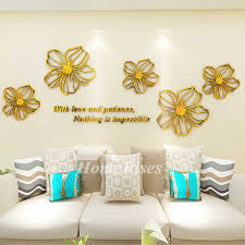 Flower Wall Decals Purple Yellow White Blue Pink Acrylic 3d Wall Sticker