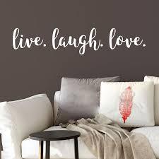 Live Laugh Love Vinyl Wall Decal Modern Home Decor Teen Girl Decal