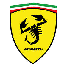 ferrari logo abarth name sticker
