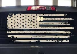 Distressed American Flag Decal Stickers For Back Rear Truck Window Onlineamericanstore
