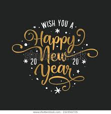 happy new year lettering template greeting stock vector royalty