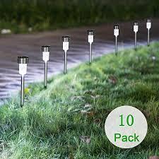 lebaiqi 10 pack solar lights outdoor
