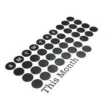 58x119cm Removable Pvc Daily Blackboard Wall Sticker Pvc Vinyl Chalkboard Window Sticker Month Calendar Home Office Decal 22 83 X45 66 Walmart Com Walmart Com