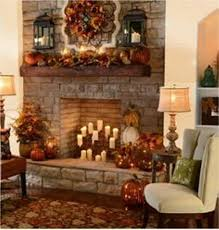 fireplace mantel for thanksgiving