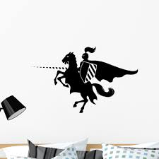 Knight Horse Wall Decal By Wallmonkeys Peel And Stick Graphic 36 In W X 25 In H Wm219667 Walmart Com Walmart Com