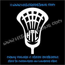 Lax Lacrosse Stick 3 Letter Monogram Head Ball Car Truck Boat Vinyl Decal