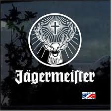 Awesome Jagermeister Window Decal Sticker Check It Out Here Https Customstickershop Us Shop Car Decals J Car Decals Stickers Window Decals Decals Stickers
