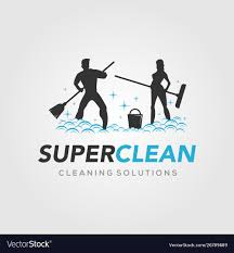 super clean for cleaning service logo