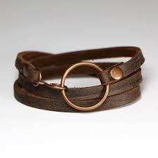 triple wrap soft dark brown leather