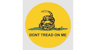 Round Dont Tread On Me Sticker Gadsden Tea Party Zazzle Com