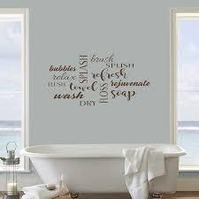 Amazon Com Bathroom Wall Decor Decal Sticker Bathroom Decals Bathroom Vinyl Bathroom Word Jumble Decal 22x11 Brown Home Kitchen