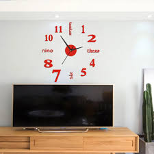 Home Wall Sticker English Numbers Diy Small Clock Red Modern Decal Wall Clock Home Kitchen Roman Diy Mirrors Decorative Metal Wall Clocks Decorative Outdoor Clocks From Qiansuning888 62 22 Dhgate Com
